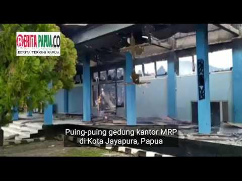 Kantor MRP Provinsi Papua Dibakar Masa Pendemo